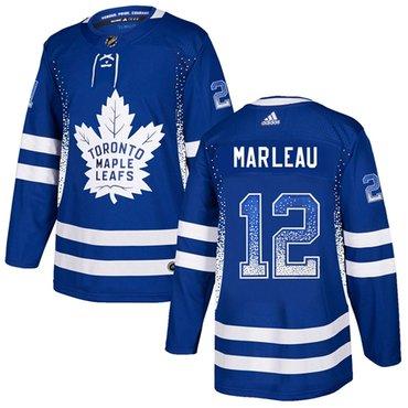 Adidas Toronto Maple Leafs #12 Patrick Marleau Blue Home Authentic Drift Fashion Stitched NHL Jersey