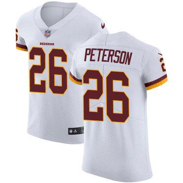 Nike Washington Redskins #26 Adrian Peterson White Men's Stitched NFL Vapor Untouchable Elite Jersey