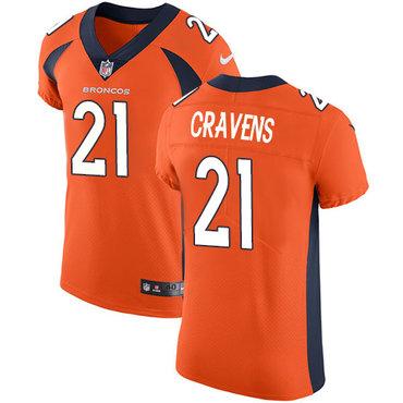Nike Denver Broncos #21 Su'a Cravens Orange Team Color Men's Stitched NFL Vapor Untouchable Elite Jersey