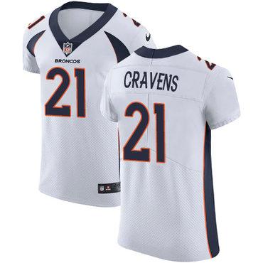 Nike Denver Broncos #21 Su'a Cravens White Men's Stitched NFL Vapor Untouchable Elite Jersey