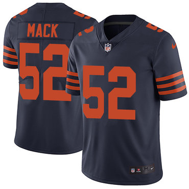 Nike Chicago Bears #52 Khalil Mack Navy Blue Alternate Men's Stitched NFL Vapor Untouchable Limited Jersey