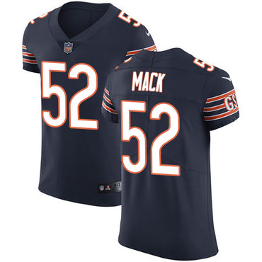 Nike Chicago Bears #52 Khalil Mack Navy Blue Team Color Men's Stitched NFL Vapor Untouchable Elite Jersey