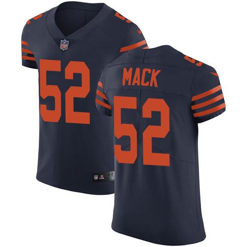 Nike Chicago Bears #52 Khalil Mack Navy Blue Alternate Men's Stitched NFL Vapor Untouchable Elite Jersey