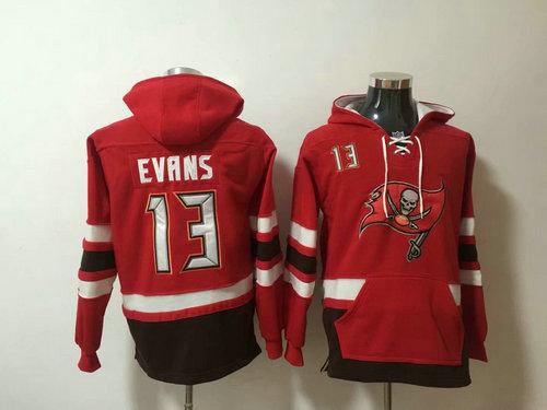 Nike Tampa Bay Buccaneers #13 Mike Evans Red Stitched Pullover Hoodie