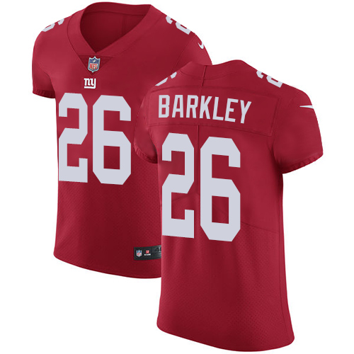 a7b25d12 Nike New York Giants #26 Saquon Barkley Red Alternate Men's Stitched NFL  Vapor Untouchable Elite