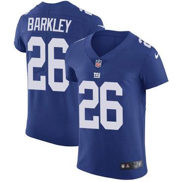 Nike New York Giants #26 Saquon Barkley Royal Blue Team Color Men's Stitched NFL Vapor Untouchable Elite Jersey