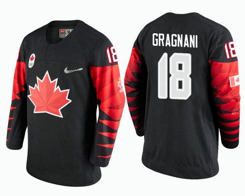 Men Canada Team #18 Marc-Andre Gragnani Black 2018 Winter Olympics Jersey