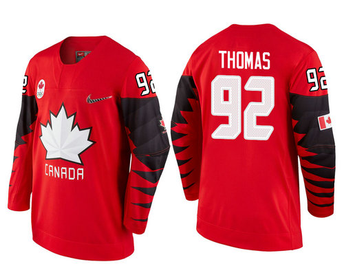 Men Canada Team #92 Christian Thomas Red 2018 Winter Olympics Jersey