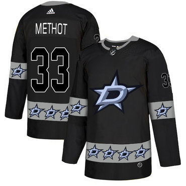 Men's Dallas Stars #33 Marc Methot Black Team Logos Fashion Adidas Jersey