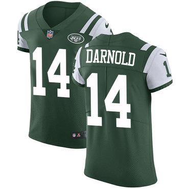 Nike New YorkJets #14 Sam Darnold Green Team Color Men's Stitched NFL Vapor Untouchable Elite Jersey