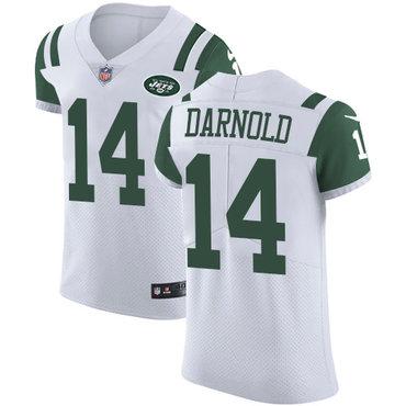 Nike New YorkJets #14 Sam Darnold White Men's Stitched NFL Vapor Untouchable Elite Jersey
