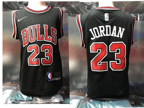 Chicago Bulls #23 Michael Jordan Black Toddlers Jersey