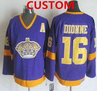 Men's Los Angeles Kings Custom 1977-79 Purple CCM Vintage Throwback Jersey