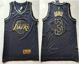 Nike Lakers #24 Kobe Bryant Black Gold NBA Swingman Limited ...