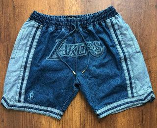 Men's Los Angeles Lakers Light Blue Pockets Swingman Shorts