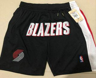 Men's Portland Trail Blazers Black Just Don Shorts Swingman Shorts