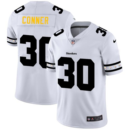 Pittsburgh Steelers #30 James Conner Nike White Team Logo Vapor Limited NFL Jersey