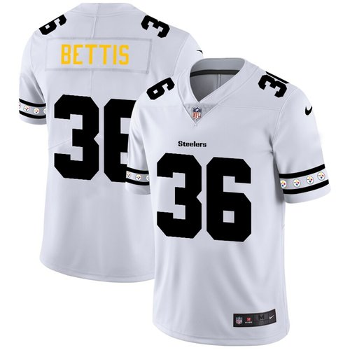 Pittsburgh Steelers #36 Jerome Bettis Nike White Team Logo Vapor Limited NFL Jersey