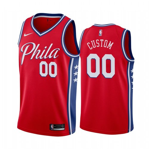 Nike Philadelphia 76ers Custom Red 2019-20 Statement Edition NBA Jersey