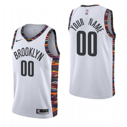 Nike Brooklyn Nets Custom 2019-20 White City Edition NBA Jersey
