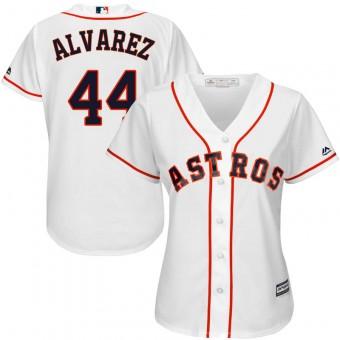 Women's Authentic Houston Astros #44 Yordan Alvarez Majestic Cool Base Home White Jersey