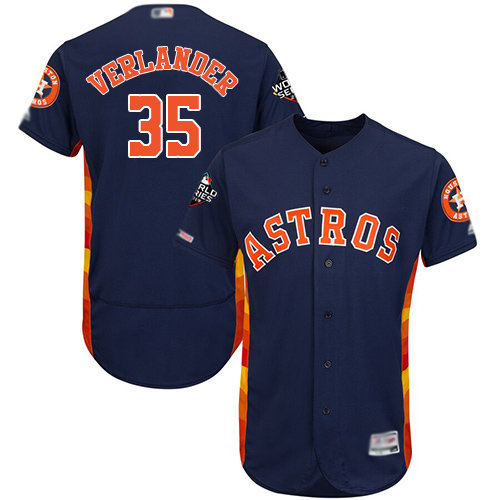 Astros #35 Justin Verlander Navy Blue Flexbase Authentic Collection 2019 World Series Bound Stitched Baseball Jersey