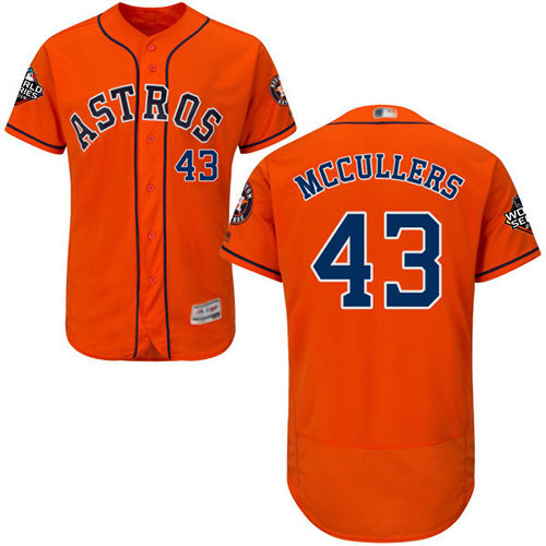 Astros #43 Lance McCullers Orange Flexbase Authentic Collection 2019 World Series Bound Stitched Baseball Jersey