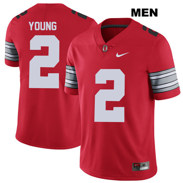 Mens Ohio State Buckeyes 2018 Spring Game Authentic #2 Chase Young Nike Red College Football Jersey