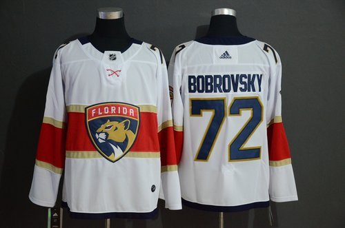 Men's Florida Panthers 72 Sergei Bobrovsky White Adidas Jersey