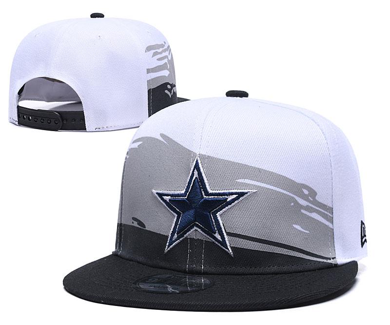 Cowboys Team Logo White Blue Adjustable Hat