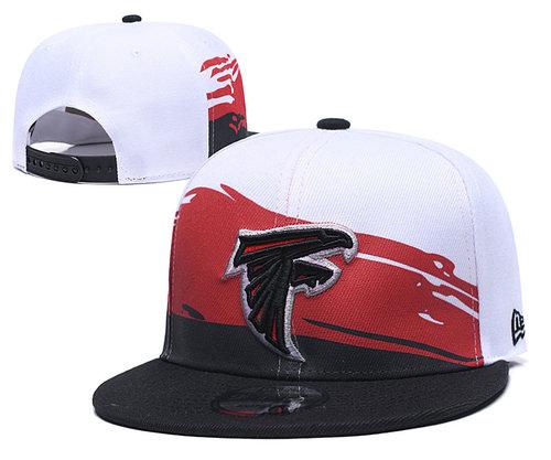 Falcons Team Logo Black Red Adjustable Hat