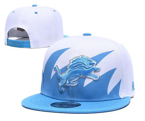 Lions Team Logo Blue White Adjustable Hat