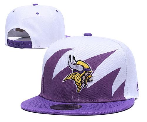 NFL Minnesota Vikings Team Logo Purple White Adjustable Hat