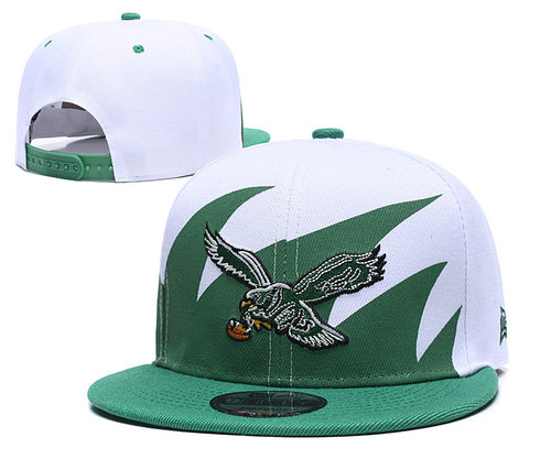 NFL Philadelphia Eagles Fresh Logo Green Adjustable Hats