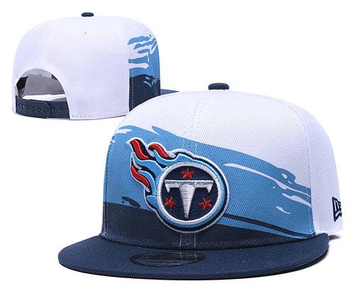 Titans Team Logo Navy Blue White Adjustable Hat TX