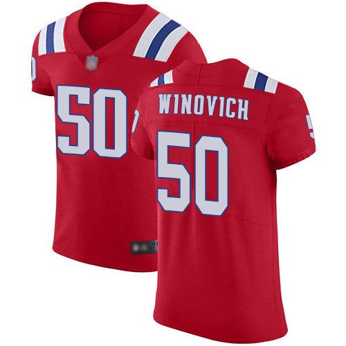 Men's New England Patriots #50 Chase Winovich Vapor Untouchable Elite Red Football Jersey