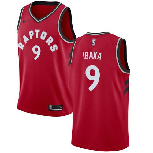 Nike Raptors #9 Serge Ibaka Red NBA Swingman Icon Edition Jersey