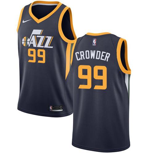 9da74bcc0f8 Nike Jazz  99 Jae Crowder Navy NBA Swingman Icon Edition Jersey