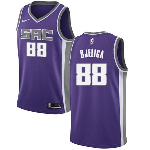 Nike Kings #88 Nemanja Bjelica Purple NBA Swingman Icon Edition Jersey