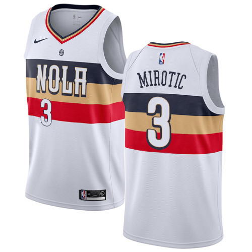 Nike Pelicans #3 Nikola Mirotic White NBA Swingman Earned Edition Jersey