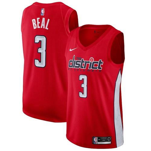 457ae89362c Nike Wizards #3 Bradley Beal Red NBA Swingman Earned Edition Jersey