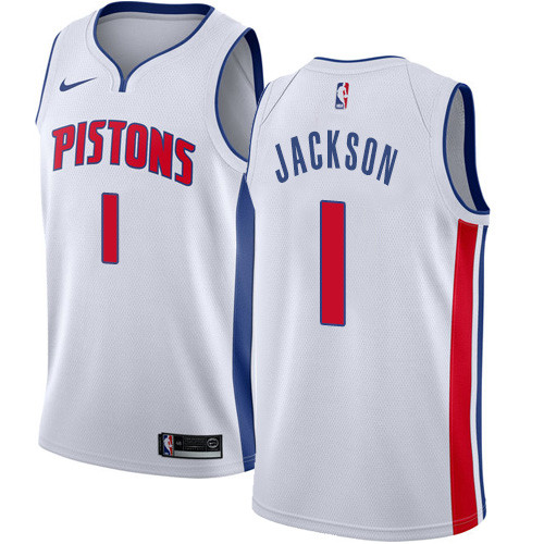Lakers Acquire Bullock From Pistons For Rookie Mykhailiuk: Nike Pistons #1 Reggie Jackson Black NBA Swingman City