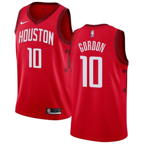 Nike Rockets #10 Eric Gordon Red NBA Swingman Earned Edition Jersey