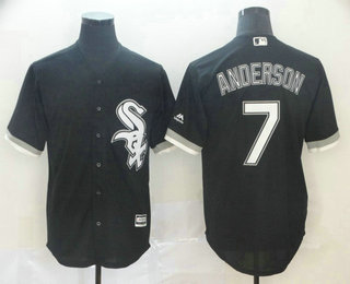 Men's Chicago White Sox #7 Tim Anderson Black Stitched MLB Cool Base Jersey