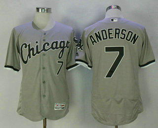 Men's Chicago White Sox #7 Tim Anderson Gray Road Stitched MLB Flex Base Jersey