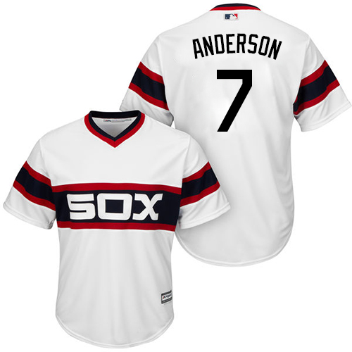 White Sox #7 Tim Anderson White New Cool Base Alternate Home Stitched MLB Jersey