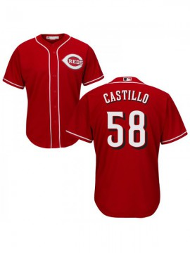 Men's Cincinnati Reds #58 Luis Castillo Authentic Red Alternate Cool Base Jersey