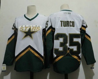 Men's Dallas Stars #35 MARTY TURCO 2003 CCM Throwback Home NHL Jersey
