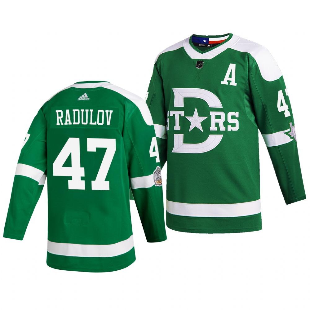 Men's Dallas Stars 47 Alexander Radulov Green 2020 Winter Classic Adidas Jersey