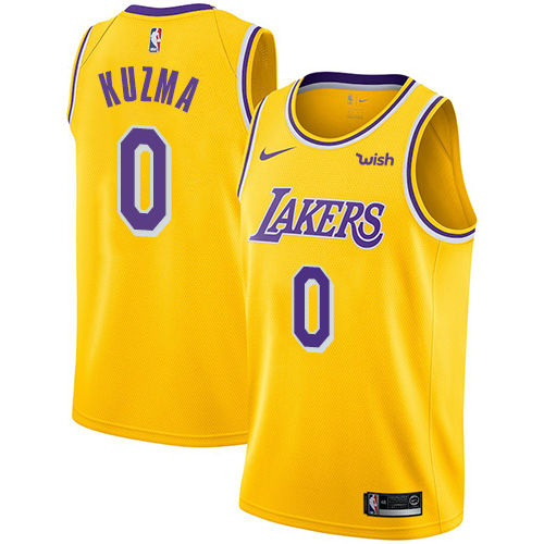 Lakers #0 Kyle Kuzma Gold Youth Basketball Swingman Icon Edition Jersey